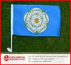 Yorkshire-rose national car flag/Custom Car Flag/car window clip flag