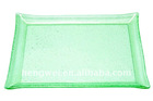 Transparant Glass Bread Tray