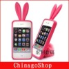 For Rabito rabbit fashion design silicone case for iphone 3G/4G touch 4