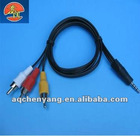 2.5/3.5mm Stereo to 3RCA Cable
