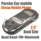 "2"" Dual SIM Unlocked Cheap Gift 977 Porshe Car mobile QuadBand Bluetooth FM"