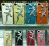 for iphone 4g&4s Newest lizards design diamond hard cover