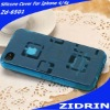 Silicone material color glass cover for iphone 4 4s any color be custermized