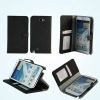 Hot selling stand PU case for Samsung Galaxy Note II