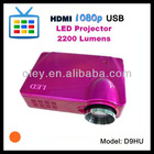 hd home theater led projector with USB/SD/HDMI