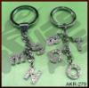 silver color zinc alloy letter key charm
