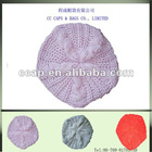 fashion winter girls braided baggy beret beanie cap hat ccap-0312