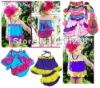 girls ruffle top dress with matching bloomers set