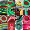 blue orange yellow colored garden irrigation pvc hose