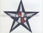 star shape woven label badge for clothing