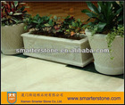 Chinese White Granite Flower Pot