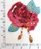 crochet garment flower embroidery patch applique work