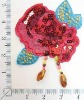crochet garment flower embroidery patch applique work