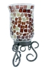 Mosaic candle holder,glass mosaic candle holder,mosaic glassware