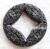Handmade carved cinnabar beads, green, round,jewelry beads, Chinese beads,