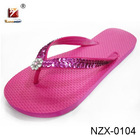 hot-selling outdoor summer PE women slipper with diamand decoration