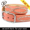 High Quality Lady PU Belt with Rhinestones