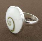 SLR017 shiva shell silver rings