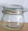 clear storage glass jar