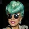 Lady Gaga Green Roll Wig