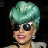Lady Gaga Green Roll Wig