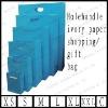 holehandle ivory paper shopping/gift bag