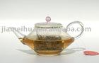 300ml Exquisite Glass Teapot, Hand-made Glass Teapot, Borosilicate Glass Teapot with Glass Filter