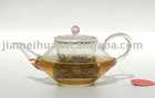 300ml Exquisite Glass Teapot, Hand-made Glass Teapot, Borosilicate Glass Teapot with Glass Filter