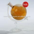 Transparent Glass Wine Bottle with vessel inside