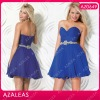 AZ0649 Beading Rhinestone Blue Sexy Girls Party Dress