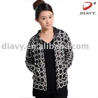 THE LATEST DESIGN Ladies'cashmere and soybean fibre blend loop printed knitted fashion sweater
