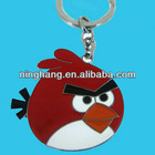2012 metal gifts keychains for kids with red bird