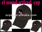 OEM price LED sound actived hats
