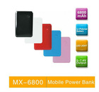 6800mAh Mobile power bank for Iphone/Blackberry/HTC