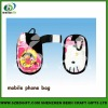 heat transfer printed mobilephone bag for sale