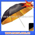 two-double golden reflector umbrella with black cover
