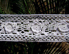 Fine Handmade White Cotton Crochet Lace Trim Pattern (3153)