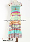 Bohemian colorful stripe dress
