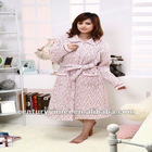 Clip a cotton padded night-robe