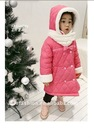 Girls coat girls winter bowtie outerwears