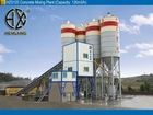HZS120 Ready-mixed Concrete Mixing Plant Capacity: 120m3/h