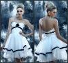K1013 Elegant Sweetheart Ruched Organza A Line Short Cocktail Dresses 2013 Hot Sales!