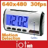Remote Control Clock Camera 4GB 640x480 AVI