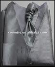 Striped business vest