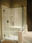 simple glass shower enclosure