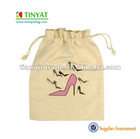 Portable drawstring shoes bag