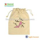 Portable drawstring shoes bag