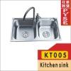 KT005 stainless steel kitchen sink,indian ktichen design,stainless steel sink,free standing sink,farm,campaing sink,kitchen sink