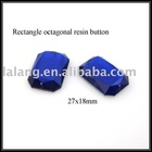 Fashion Style Rectangle Octagonal Resin Button Accessory