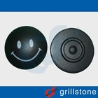 Hot selling style rf eas system round security tag black with smile logo